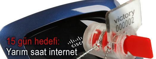 15 gün hedefi: Yarım saat internet