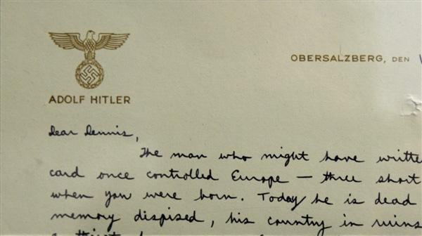 Babadan Oğula Hitler Antetli Mektup