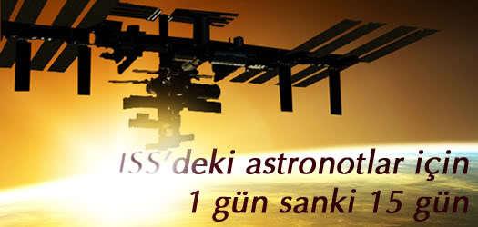 ISS'deki astronotlar için 1 gün sanki 15 gün