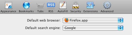 OS X'te varsayılan tarayıcıyı değiştirmek