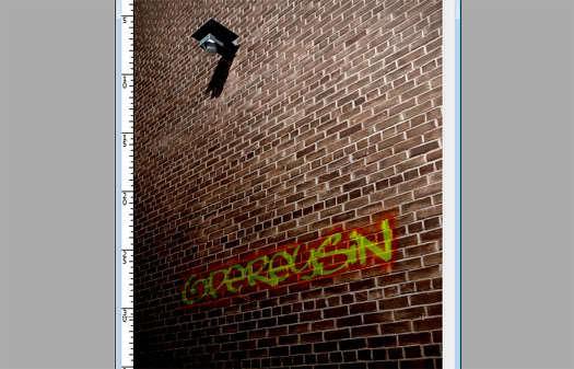 Photoshop'la duvara graffiti yapın