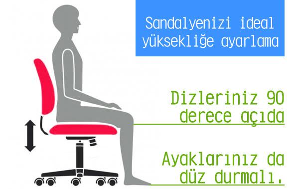 Sandalyenizin ideal yüksekliği nedir?