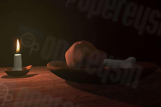 3D Tavuk butu